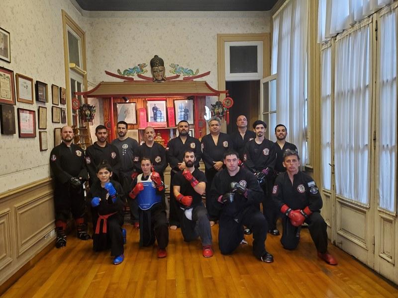 Clase de Combate en la sede central wai kung pai escuela